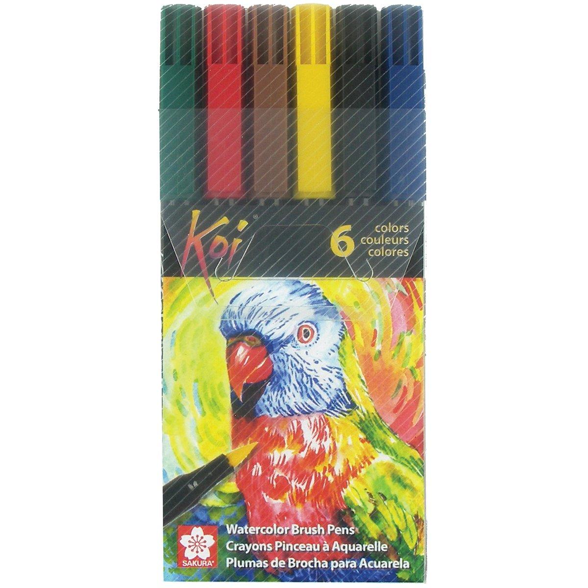 Amazon.com: Sakura XBR-6CSA 6-Piece Koi Coloring Brush Pen Set ...