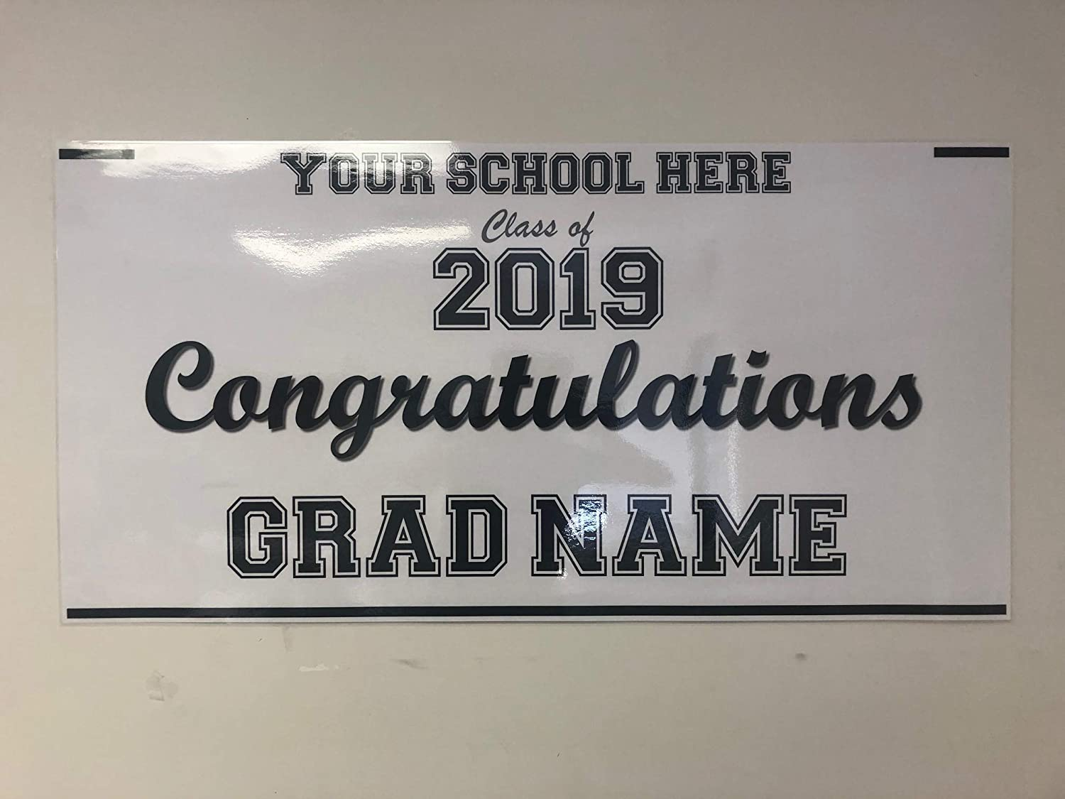 Congratulations Advertising New Class of 2019 13 oz Heavy Duty Vinyl Banner Sign with Metal Grommets Flag, Store Many Sizes Available
