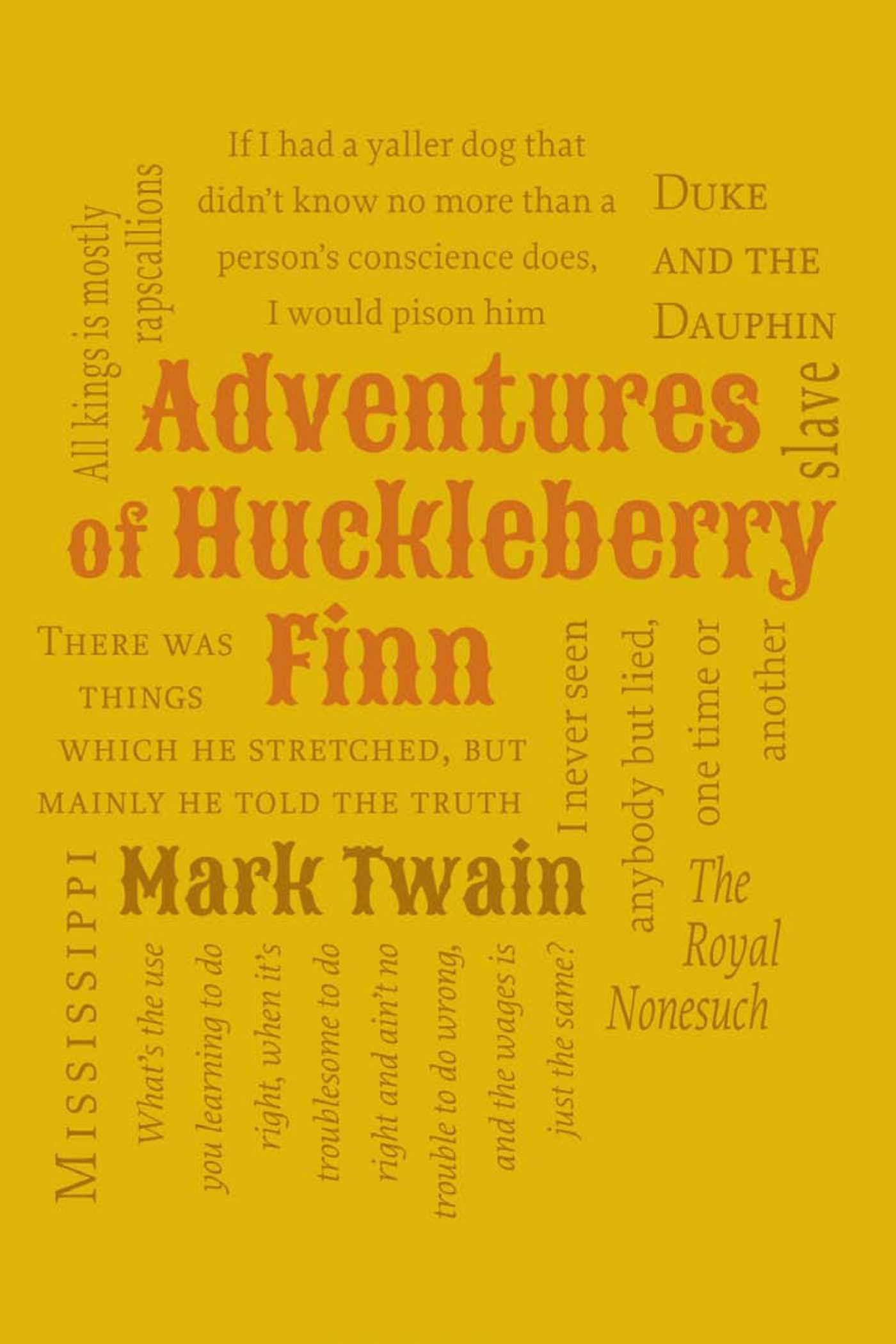Image result for adventures of huckleberry finn word cloud classics book cover