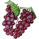 2 x decorazione plastica Grappoli d' uva Arte Frutta di plastica frutta verdura frutta artificiale decorazione 17 cm Lila