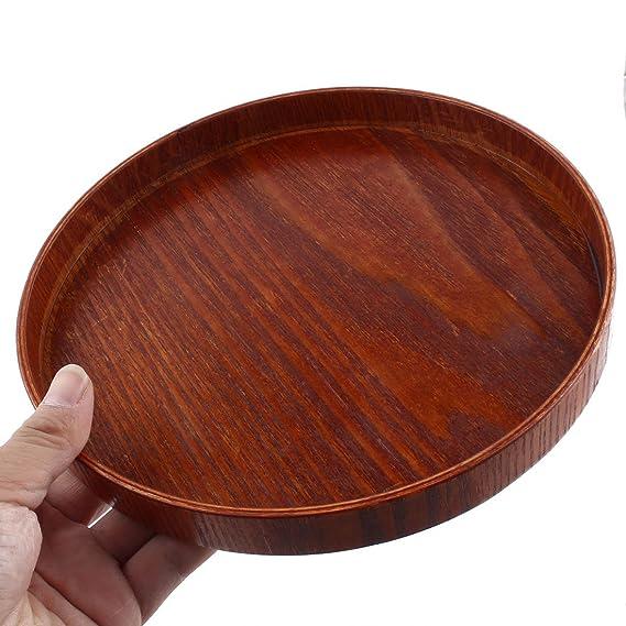 Amazon.com: Forma DealMux Wood Hotel Restaurante Rodada bolo de alimento Bandeja Container 21 centímetros Dia: Kitchen & Dining
