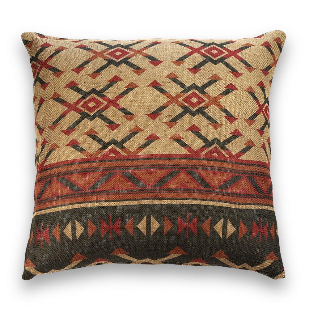 60/x 60/cm Quadrato /Cuscino da Decorazione Multicolore Guapore Iuta Kilim/