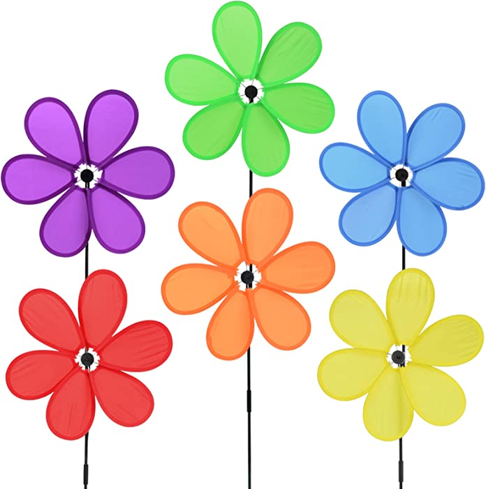 B bangcool Wind Spinners Sunflower Lawn Pinwheels Windmill Party Pinwheel Wind Spinner for Patio Lawn & Garden