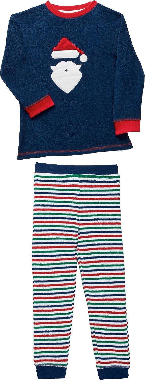 Kinderbutt Schlafanzug mit Applikation Frottee Gestrickter Ringel