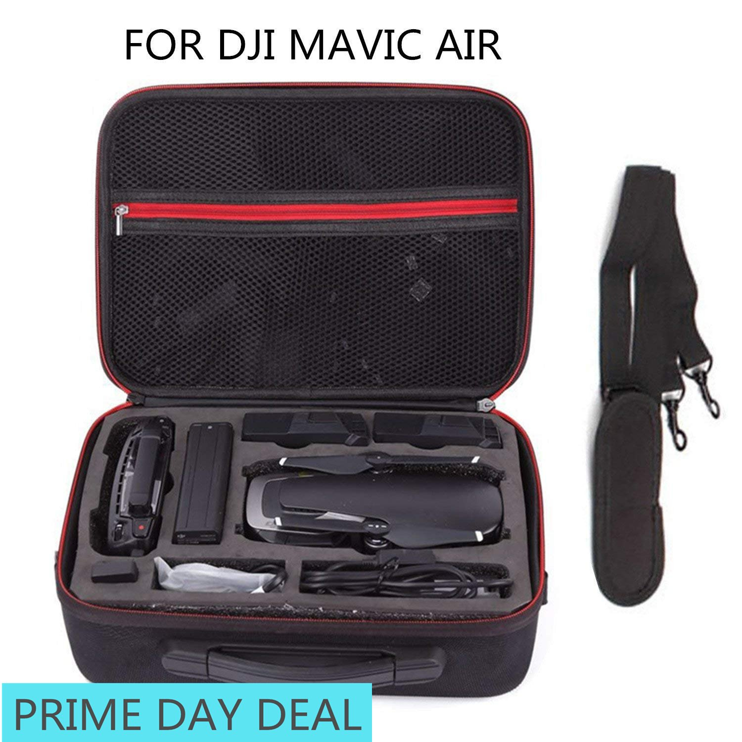 Carrying Case for DJI Mavic Air - Waterproof | Durable | Compact | Portable Travel Hardshell Shoulder Bag Backpack Hardshell Suitcase by Dreamlizer (For Mavic Air)