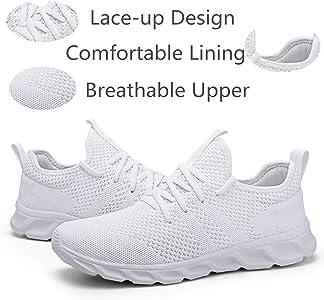 Damyuan Zapatillas Deportivas para Hombre Casual Running Tenis Gym Correr Gimnasio Bambas Sneakers Zapatos Blanco 38 EU: Amazon.es: Zapatos y complementos