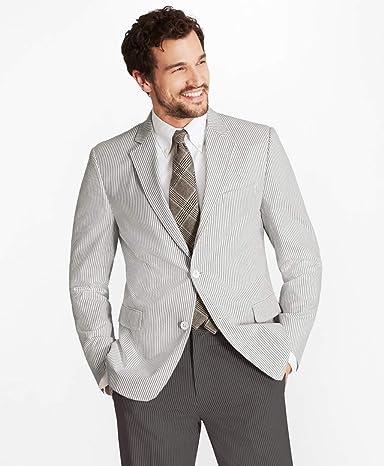 Brooks Brothers Regent Fit Seersucker Stripe Sport Coat