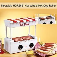 Anself Nostalgia HDR565 Grill à Hot-Dog Domestique avec 5 Rouleaux en Acier Inoxydable