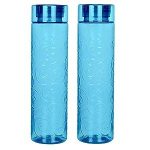 Steelo Orbit Tritan Water Bottle, 1 Litre, Set of 2, Turkish Blue