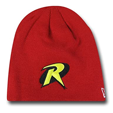 Amazon Robin Symbol Red New Era Beanie Clothing