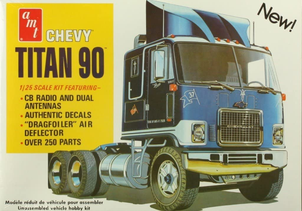 Model Truck Parts AMT Mack Cruise Liner Cab Air Deflector 1//25