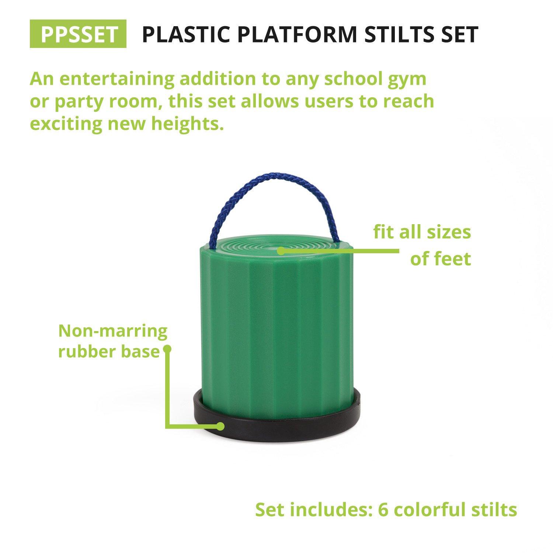 Champion Sports Platform Kid Stilts: Classic Kids Party, Birthday, and Picnic Game Set by Champion Sports (Image #6)