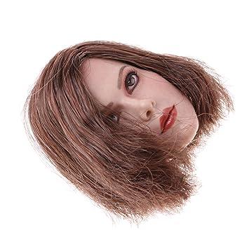 kurze 1//6 Weiblicher Kopf Headsculpt Sculpt für 12 Zoll Action Figuren