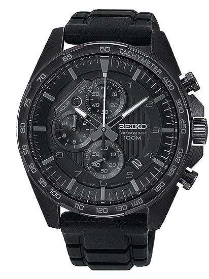 Seiko Reloj Cronografo para Hombre de Cuarzo con Correa en Silicona SSB327P1: Amazon.es: Relojes