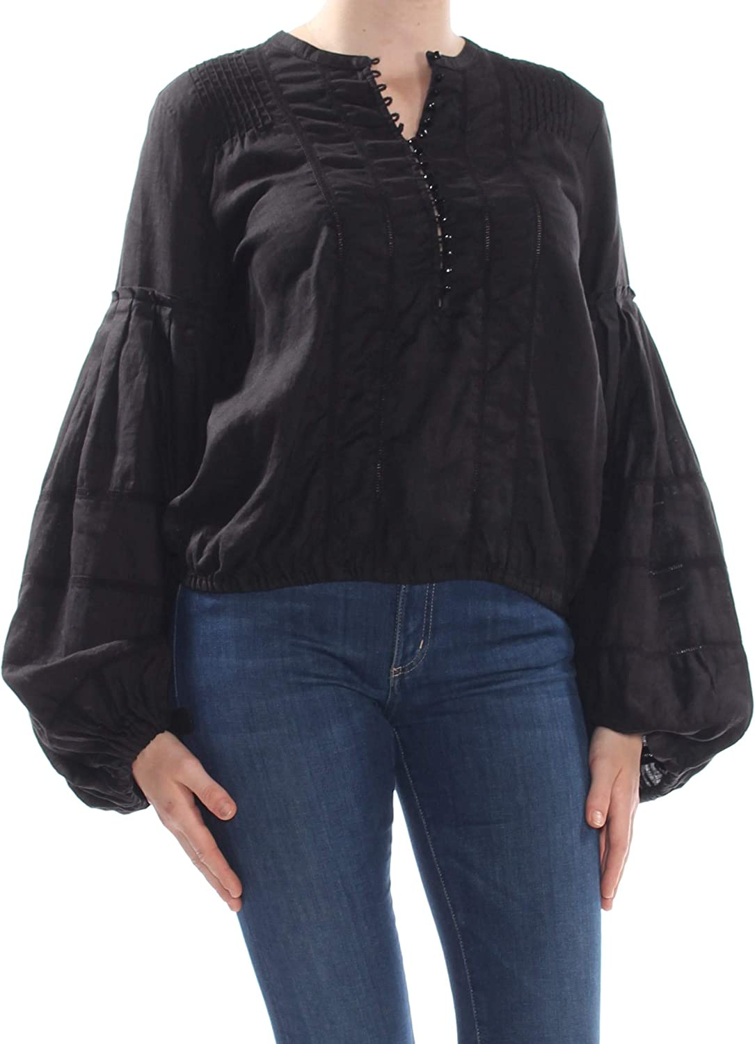 Free People Womens Bell Beauty products Blouse Sleeve Ranking TOP10 Peasant