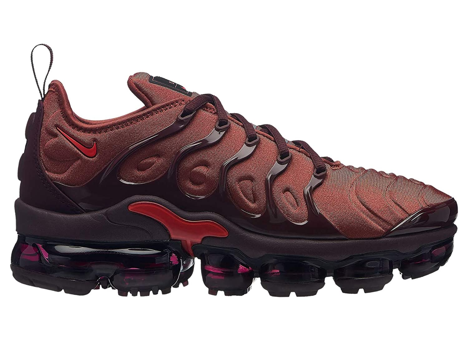 new style 79d8a 20fad Nike Air Vapormax Plus - Women's Burnt Orange/Habanero Red/Burgundy Crush  Nylon Running Shoes 8.5 B(M) US
