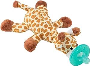 Chupete con Jirafa Cheeky Chimp, Juguete de felpa suave con chupón de silicona médica sin BPA, Chupeta con peluche para bebé, chupete de animales (Jirafa): Amazon.es: Bebé