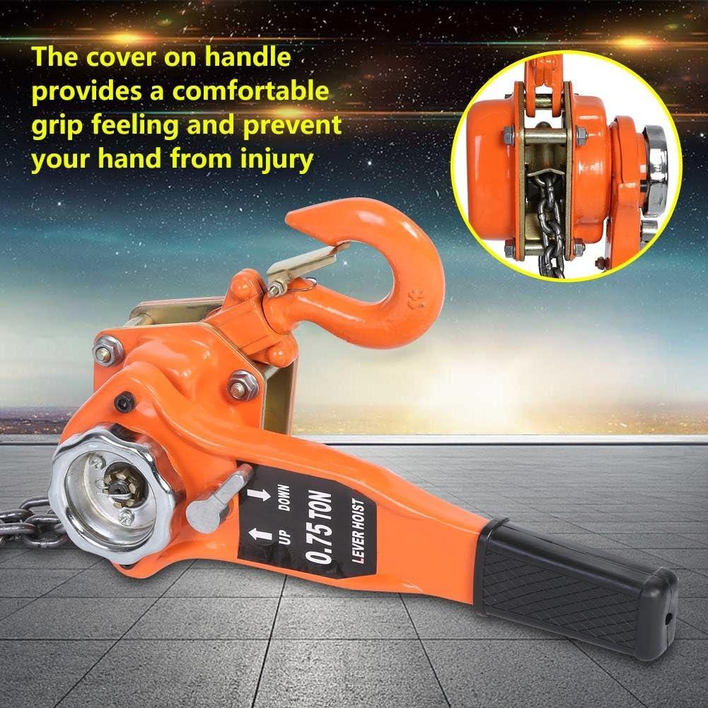 Orange Color 3t//3000kg Chain Block Hoist Ratchet Hoist Ratchet Lever Pulley Lifting 3meters FILFEEL Chain Hoist