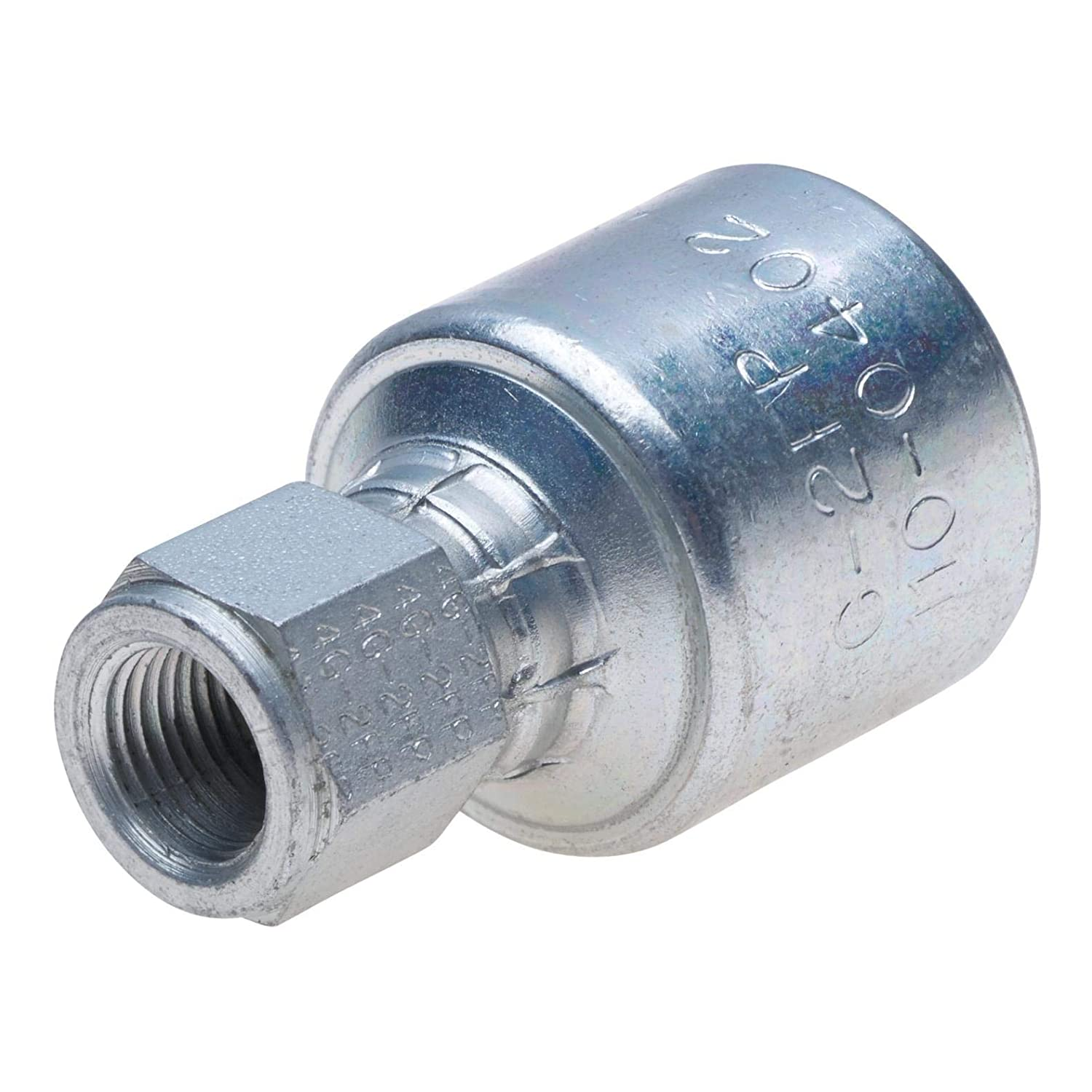 Gates 8G-8FP MegaCrimp Couplings, Female Pipe, NPTF without 30 Cone Seat, Zinc Plated Carbon Steel, 2.63', 1/2' ID (Pack of 5) 2.63 1/2 ID (Pack of 5)