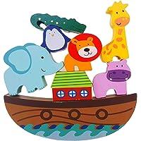 Ahşap Denge Oyunu Montessori Anne Çocuk Etkinlik Zeka Oyunu nuhun gemisi