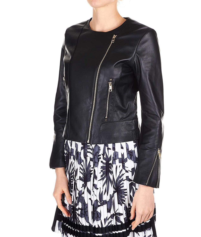 Liu Jo Womens C19026p033622222 Black Leather Jacket