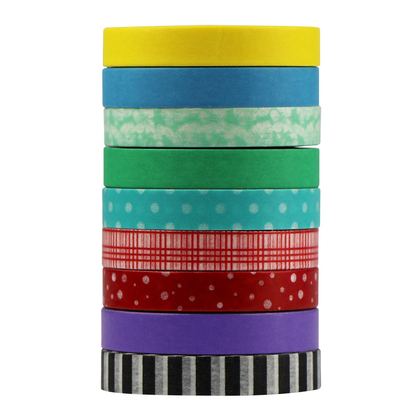 UOOOM 9 Ruban adhé sif Washi Tape Ruban adhé sif de masquage dé coratif scrapbooking cadeau DIY Craft TAP-37