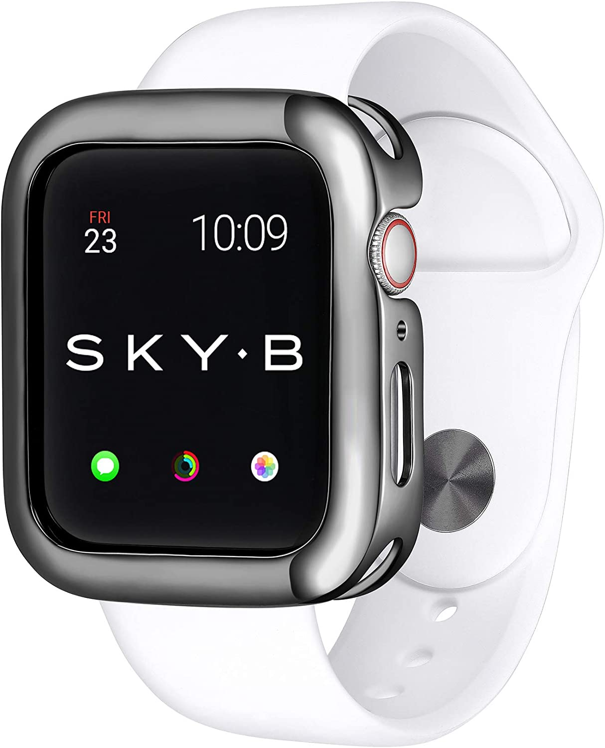 SKYB Minimalist Gunmetal Protective Jewelry Case for Apple Watch Series 1, 2, 3, 4, 5 Devices - 38mm