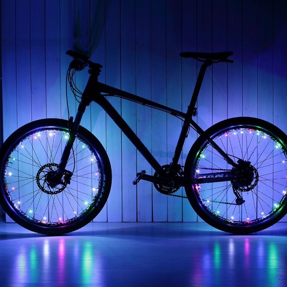 WEKA 1 Stück Fahrrad Rad Reifen Draht Felge 20 LED Reflektor Bunt ...