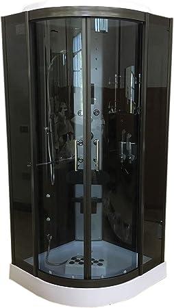 DUCHA CABINA DE HIDROMASAJE 90 x 90 cm SPA RADIO CROMOTERAPIA Toronto Nueva: Amazon.es: Bricolaje y herramientas