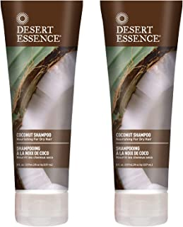 product image for Desert Essence Coconut Shampoo - 8 Fl Ounce - Pack of 2 - Intense Moisturization - Healthy Hair - Restores Natural Luster - Coconut Oil - Jojoba Oil - Olive Oil - Cruelty-Free - Parabens-Free