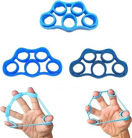 3//6pcs Hand Gripper Forearm Wrist Training Finger Stretcher Resistance Bands