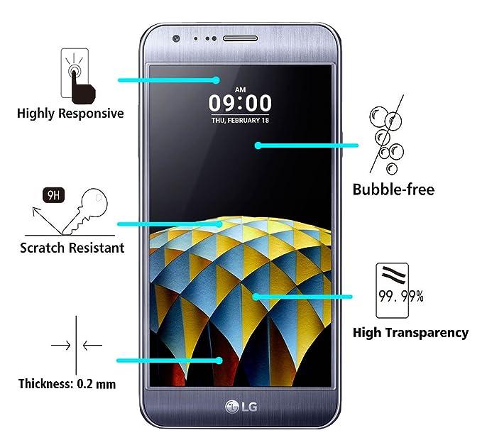 iVoler Protector de Pantalla para LG X CAM, Cristal Vidrio Templado Premium: Amazon.es: Electrónica