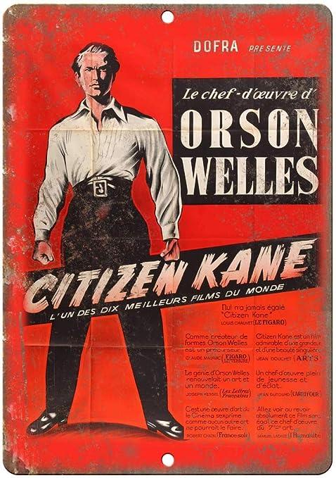 RABEAN Citizen Kane Movie Póster de Pared Metal Creativo ...