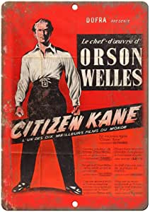 RABEAN Citizen Kane Movie Póster de Pared Metal Creativo Placa ...