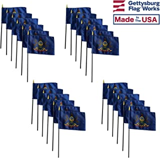 product image for 4x6 E-Gloss Pennsylvania Stick Flag - Flag Only - Qty 24