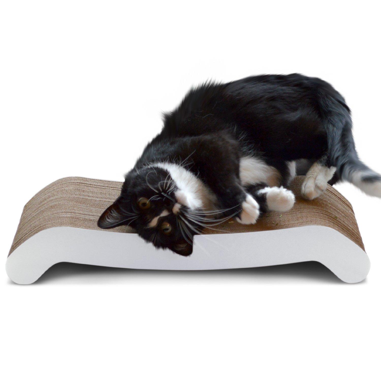 PetFusion Cat Scratcher FLIP PAD - 2 designs in one. [Superior Cardboard & Co...