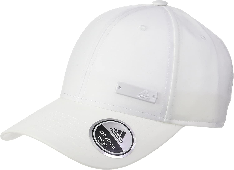 adidas 6P Ltwgt Met Gorra, Mujer, Blanco (White/Black), Talla ...
