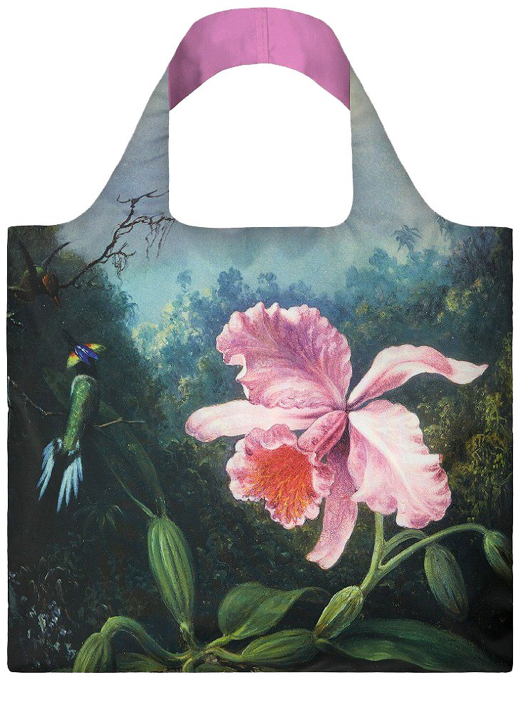 LOQI Museum Martin Johnson Heade Still Life with Orchid Reusable Shopping Bag, Multicolored Fashion Imports VG.SN