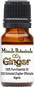 Miracle Botanicals CO2 Extracted Ginger Essential Oil - 100% Pure Zingiber Officinale - 10ml or 30ml Sizes - Therapeutic Grade 10ml