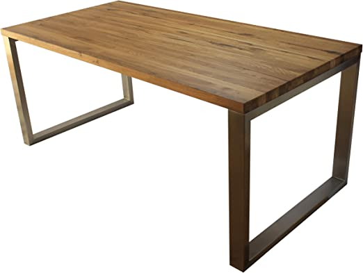 Esstisch Massivholz Edelstahl Serie Munich, Tisch Holz Eiche