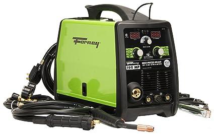 Forney 324 190-Amp MIG/Stick/TIG- Soldador multiprocesos, 120/