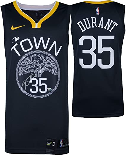 online store 0d243 d6b10 Kevin Durant Golden State Warriors Autographed Charcoal Nike ...