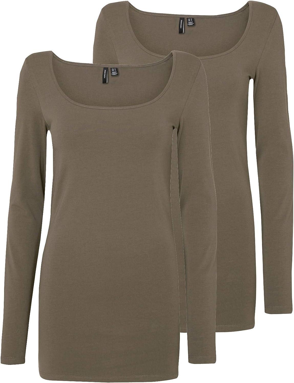 2er Pack VERO MODA Damen Langarmshirt