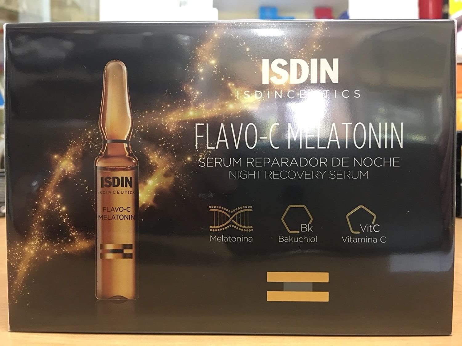 Amazon.com: ISDIN FLAVO-C MELATONIN NIGHT RECOVERY SERUM 10 AMPOULES Great Skincare: Beauty