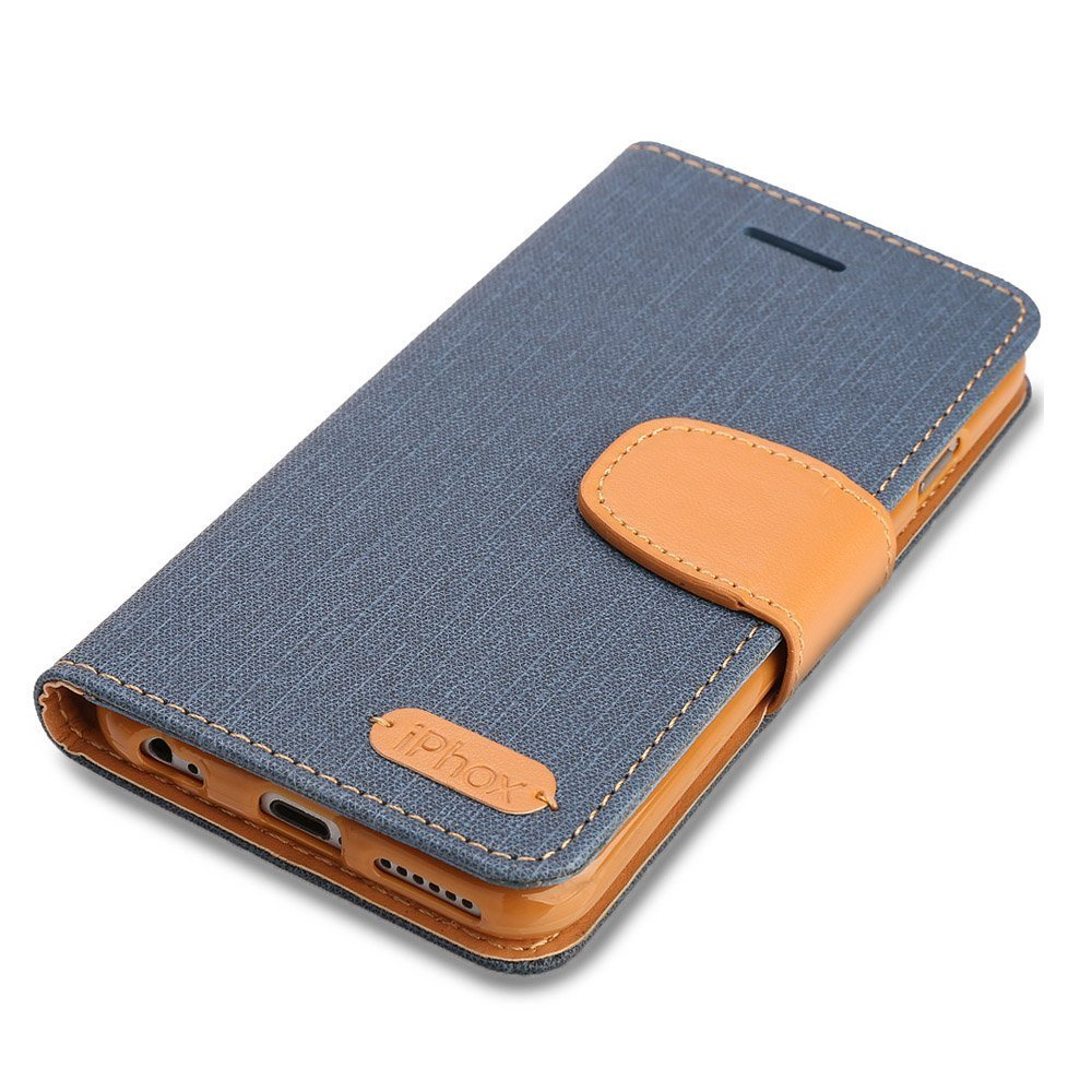 Amazon.com: iPhone, funda de piel, iphox Premium Folio ...