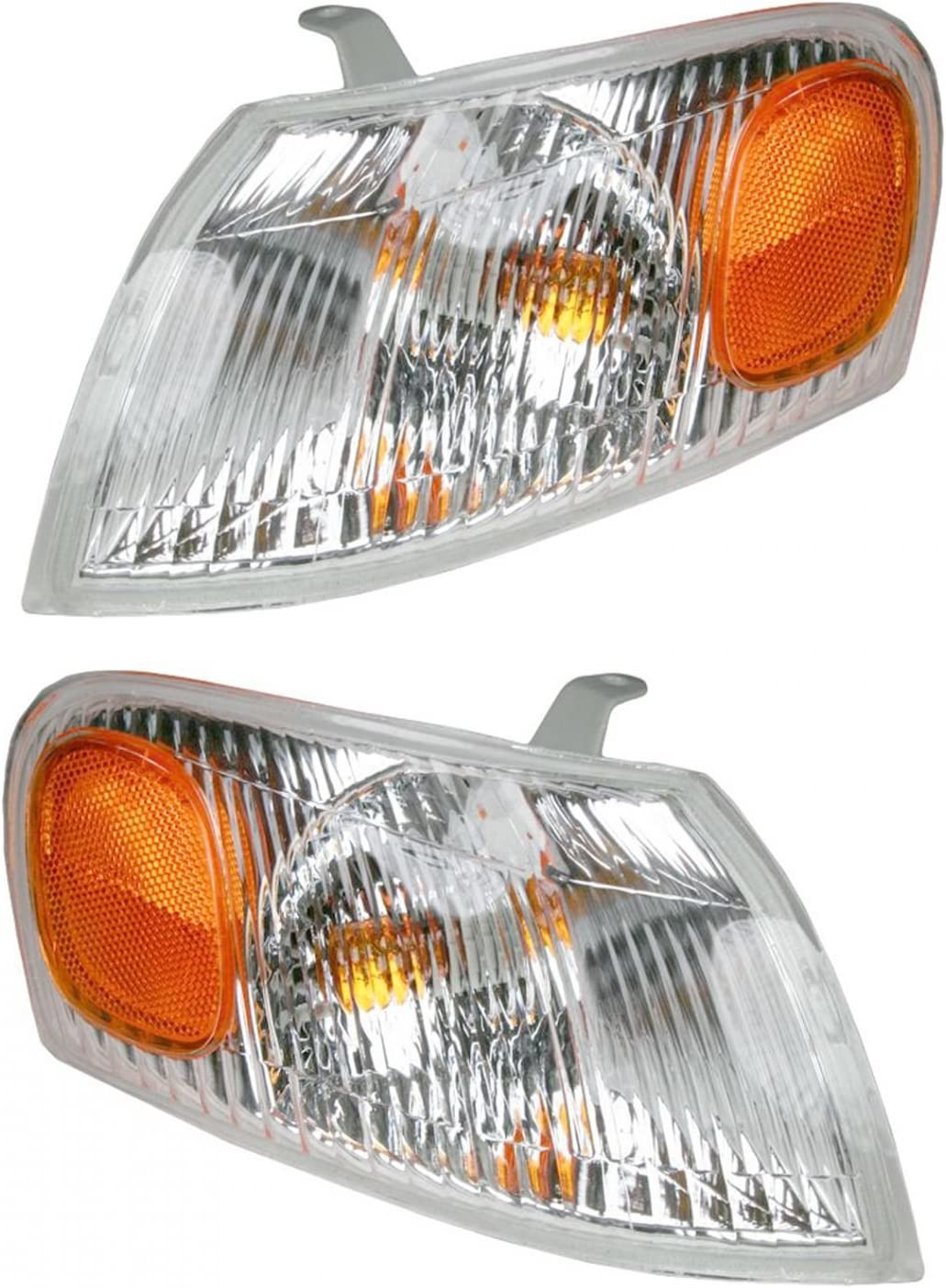 Corner Parking Side Marker Turn Signal Lights Pair Set for 98-00 Toyota Corolla