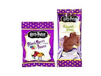 Jelly Beans Harry Potter Bertie Botts 2er Set: 1x Bertie Botts Bohnen + 1x Schokoladenfrosch inkl. Hologramm Zauberer Sammelk