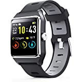 ENACFIRE Smart Watch, W2 GPS Fitness Tracker IP68 Waterproof Smartwatch, Heart Rate Monitor, Sleep Tracker, Step Counter…