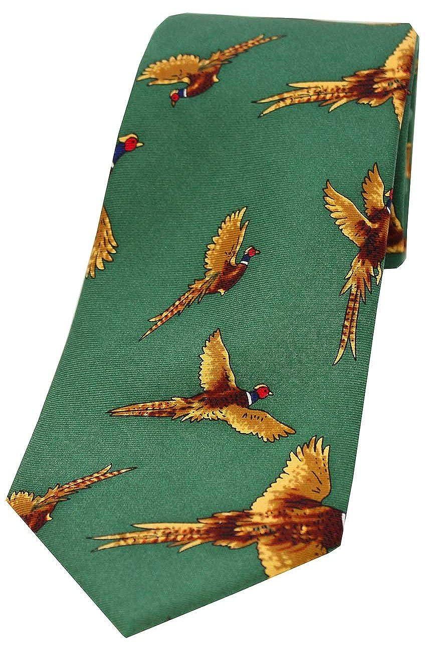 Game Tie Jack Pyke Shooting Pheasant Gift Set Hanky /& Cufflinks Green // Wine