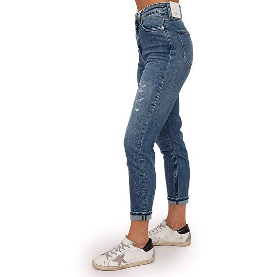 65272e1e Tommy Hilfiger Women's Icons Gramercy High Waisted Jeans Blue:  Amazon.co.uk: Clothing